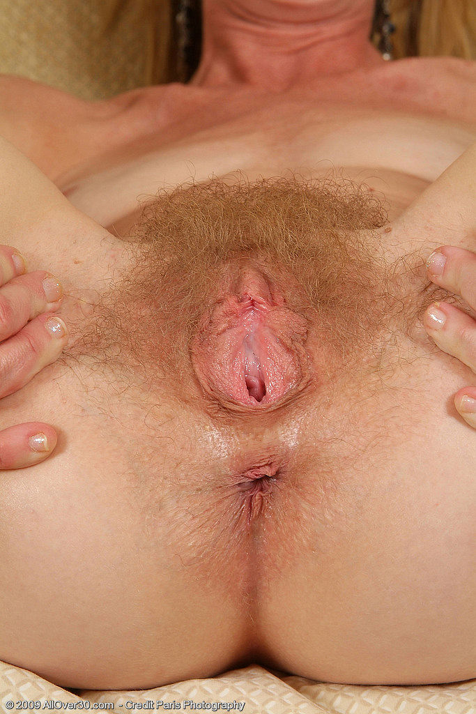 Hairy mature lady with banana and cucumber 1